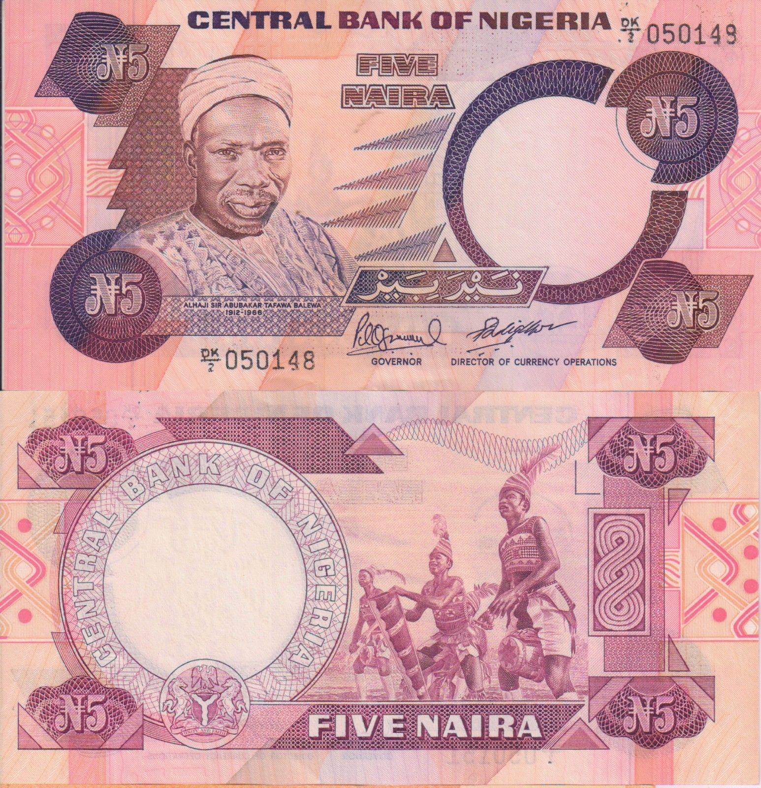 Nigeria : 5 Naira , 1984 , Currency note